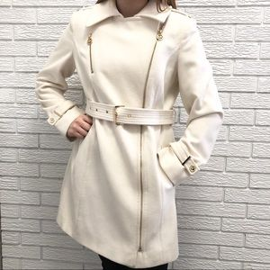Michael Kors Wool Blend Asymetric Walker Coat